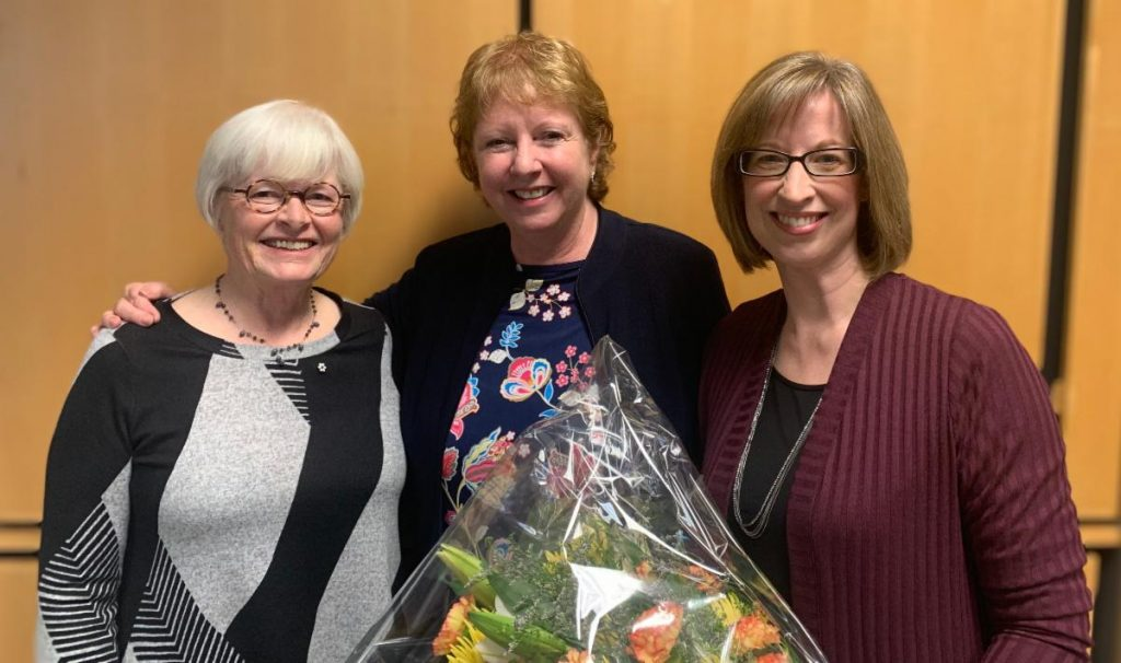 Dr. Mary Law, Dr. Cheryl Missiuna and Dr. Wenonah Campbell during the Lillie Chair award celebration