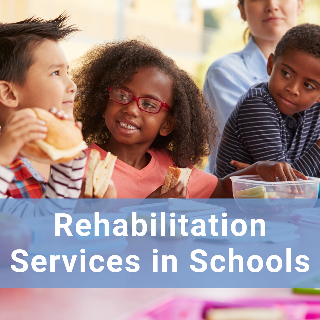Hover for more information about rehabilitation services in schools